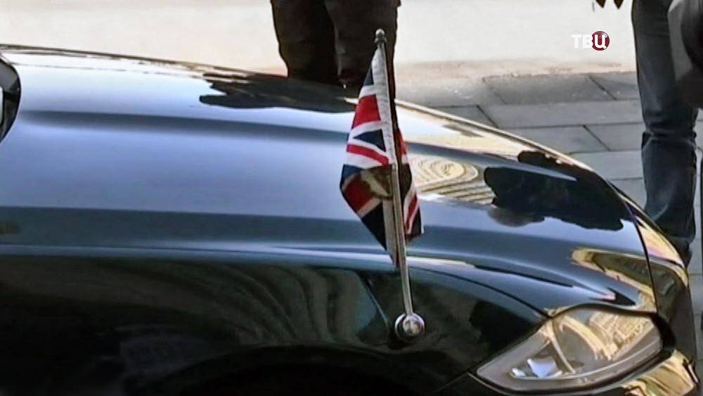 Флаг Великобритании на машине