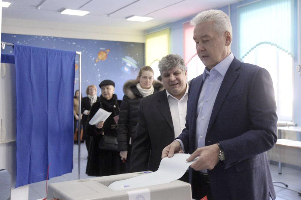 Сергей Собянин на выборах президента