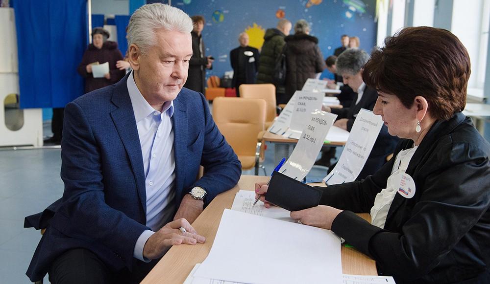 Сергей Собянин на выборах президента России