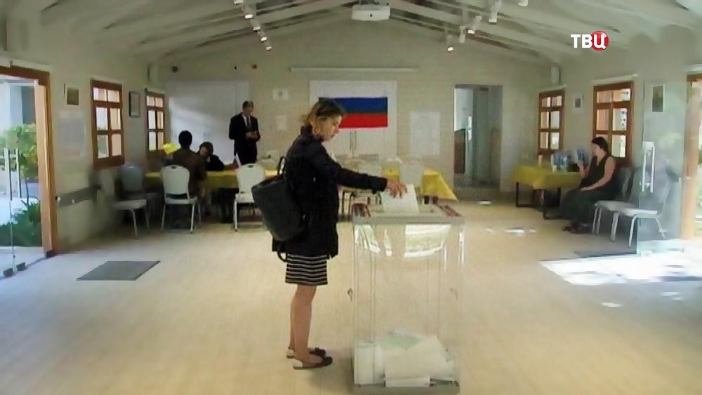 Голосование на выборах президента России заграницей