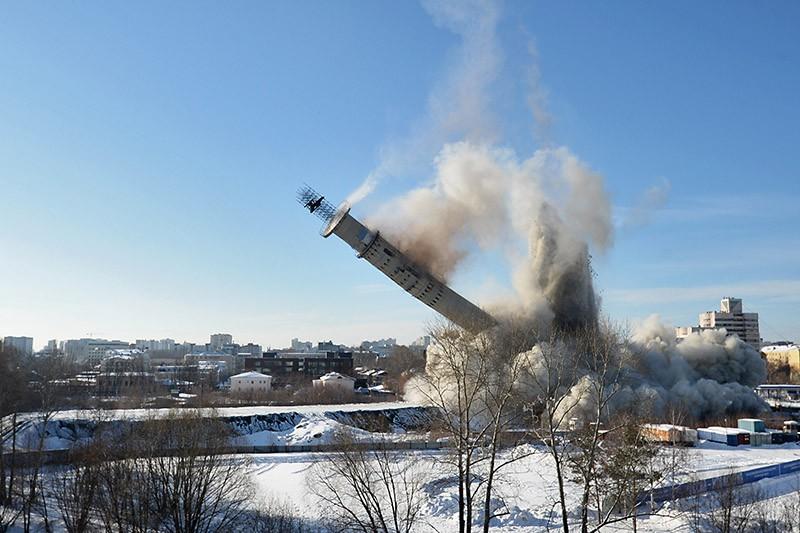 Снос недостроенной телебашни в Екатеринбурге