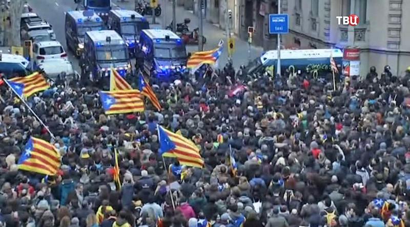 Акция протеста в Испании