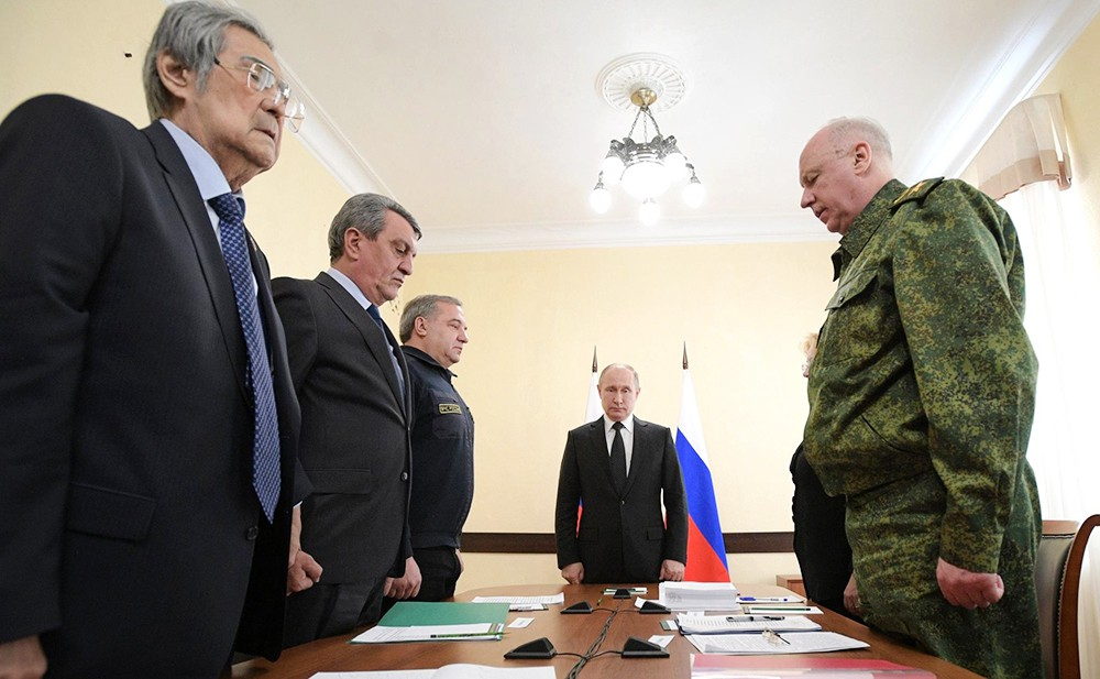 Владимир Путин на совещании о ликвидации последствий пожара в Кемерове
