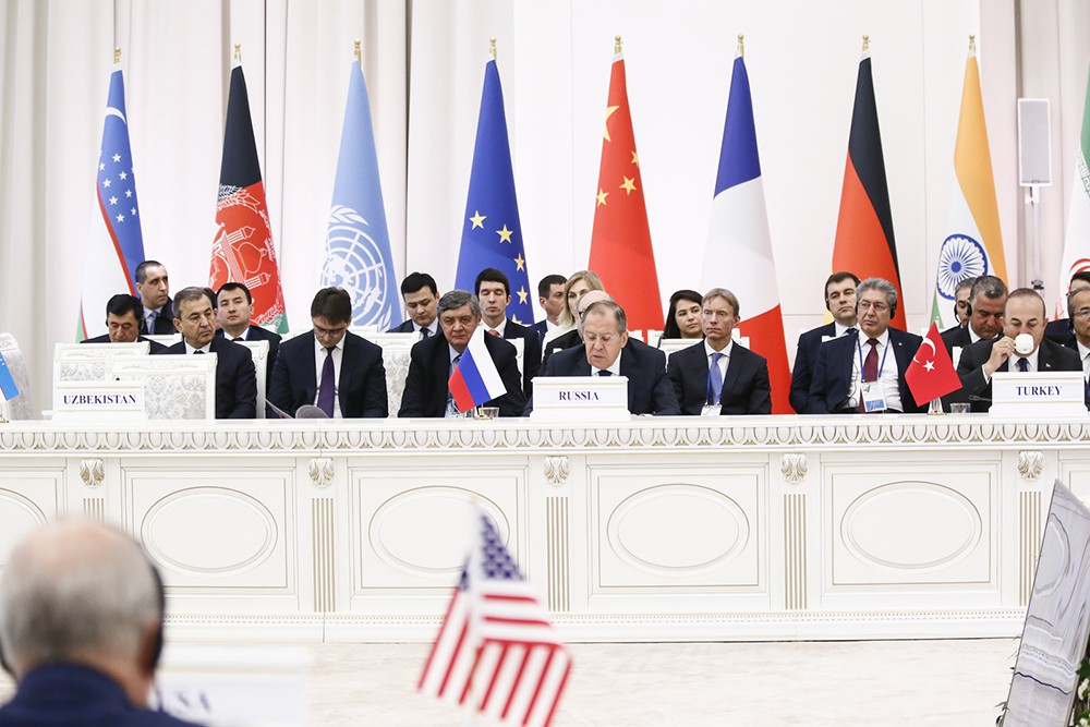 Глава МИД России Сергей Лавров на Международной конференции высокого уровня по Афганистану