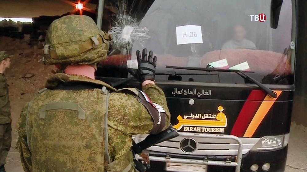 Военная полиция МР России в Сирии на КПП