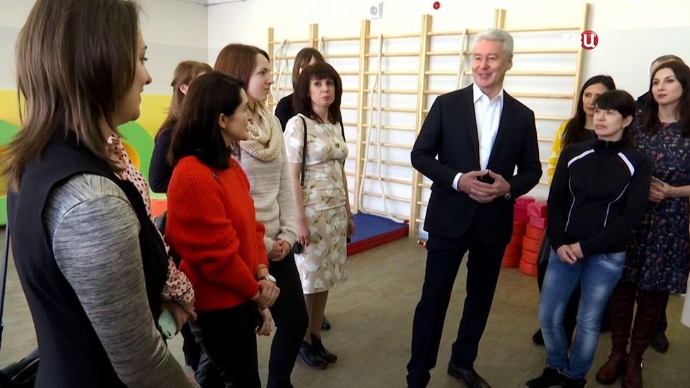Сергей Собянин посетил новый детский сад