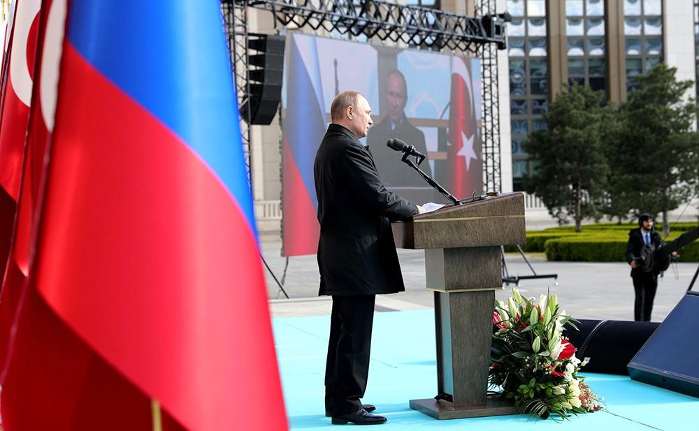 Президент России Владимир Путин с визитом в Турции