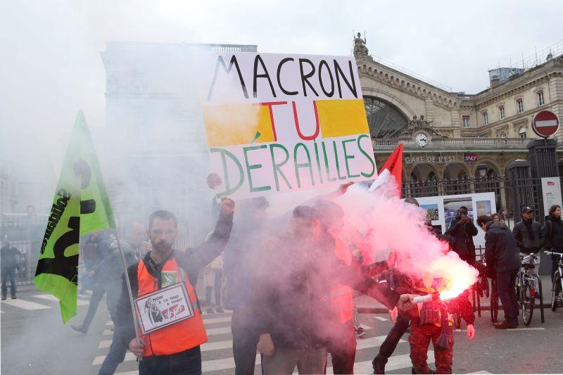 Забастовка в Париже