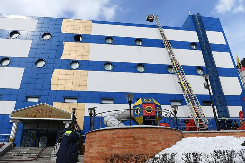 """Пожар в торговом центре """"Персей"""" в Москве"""