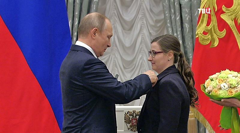 Владимир Путин наградает молодых деятелей культуры