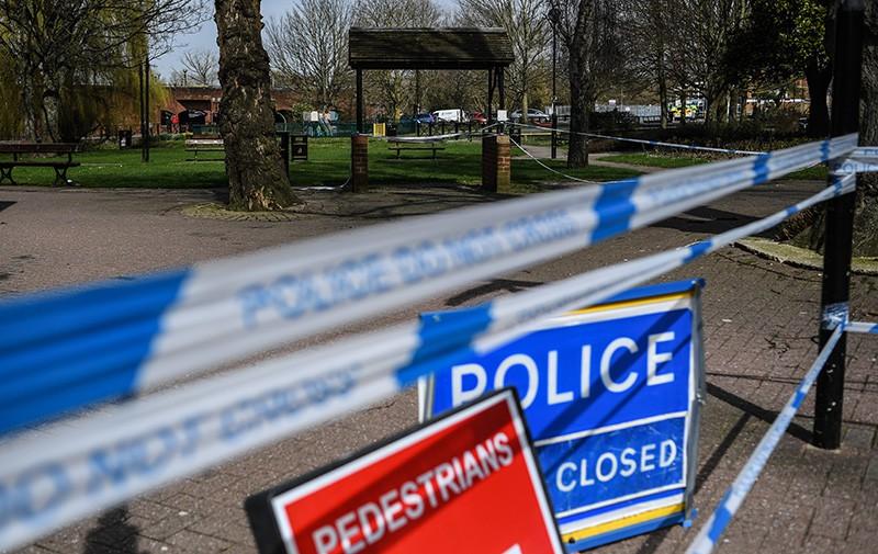 Ограждения, выставленные полицией города Солсбери