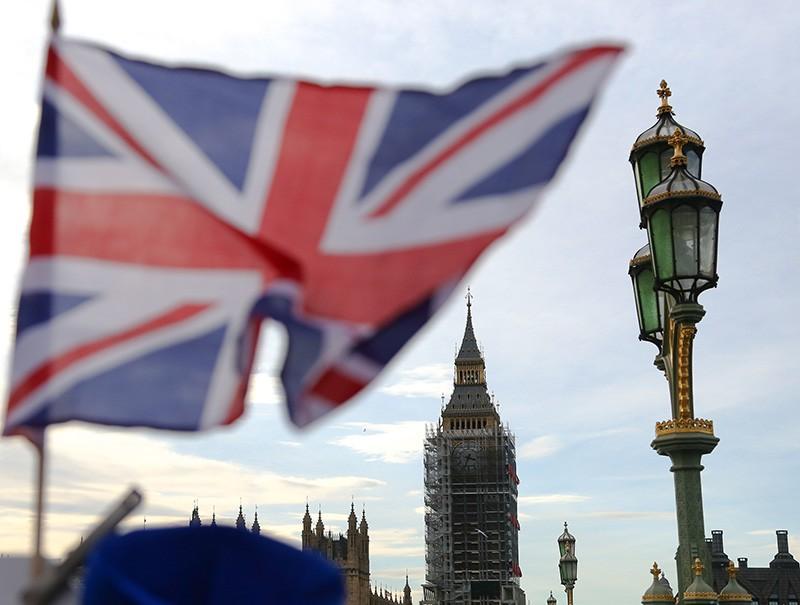 Лондон. Флаг Великобритании