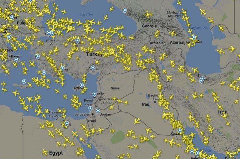 Воздушное пространство над Сирией