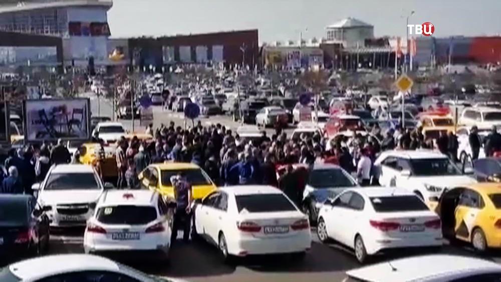 Акция протеста таксистов