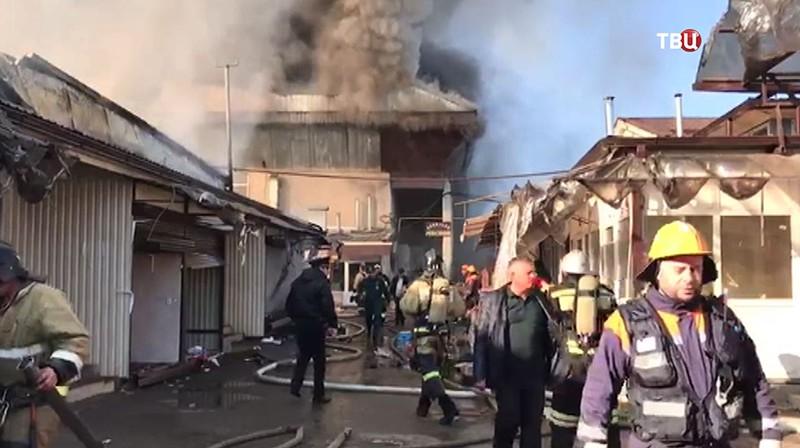 Пожар на рынке Нальчика
