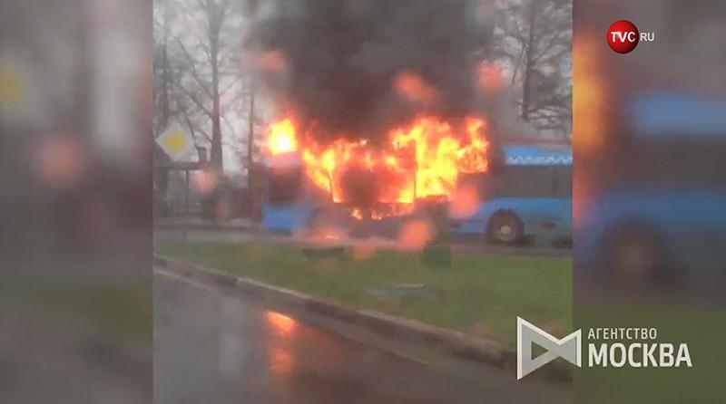 Пожар в троллейбусе