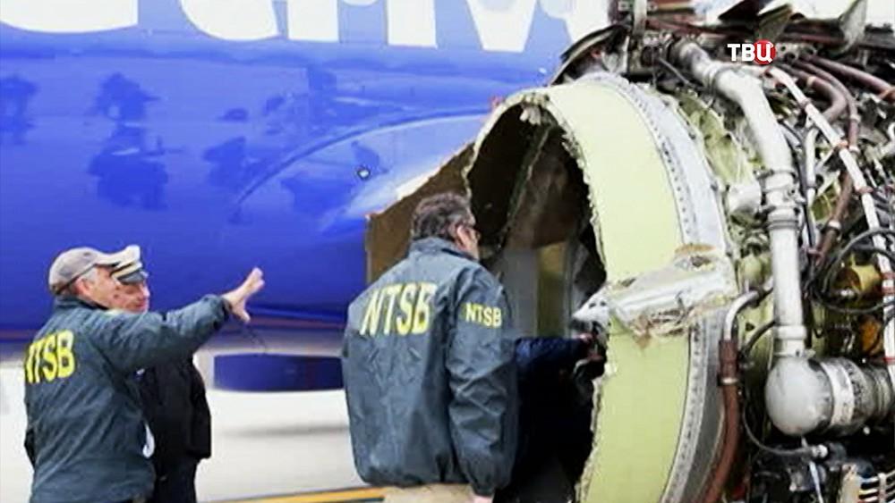 Взрыв двигателя Boeing 737 в США