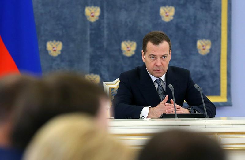 Дмитрий Медведев проводит заседание правительства