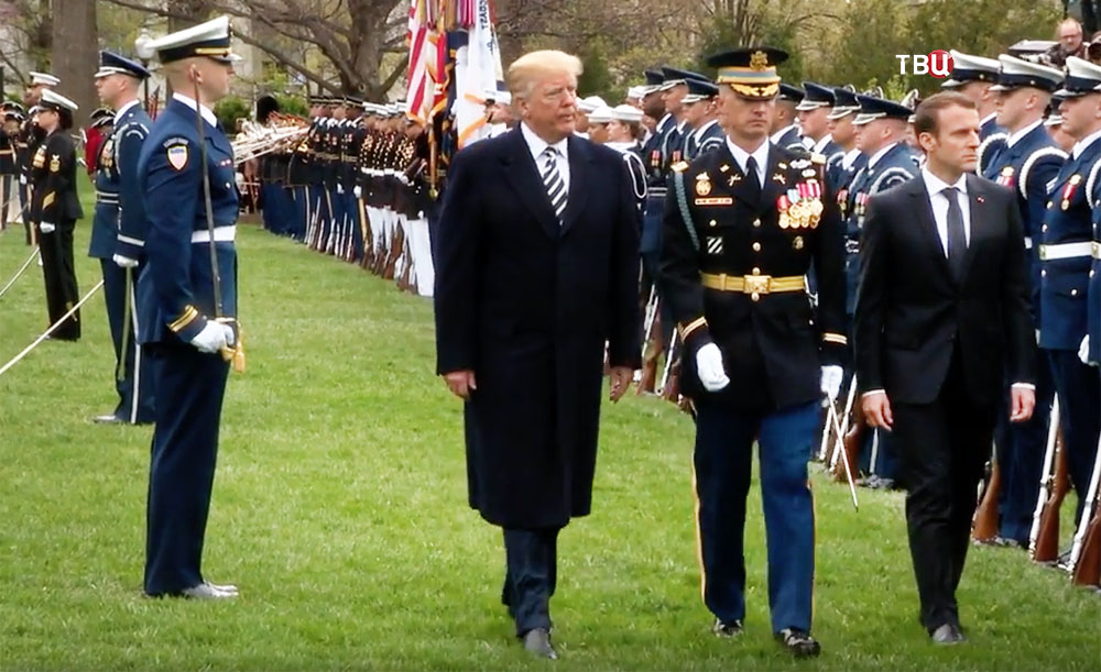 Дональд Трамп и Эммануэль Макрон