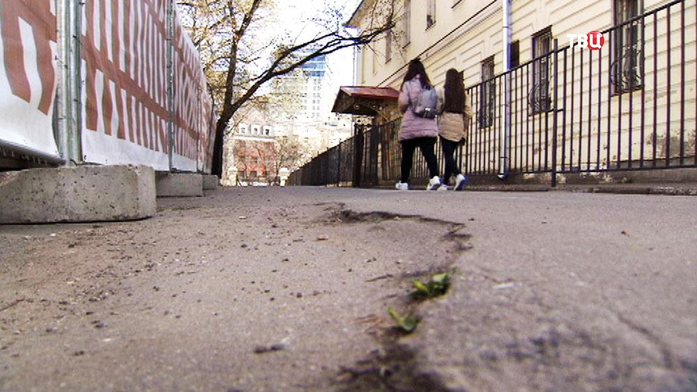 Работы по созданию нового входа в Парк Горького