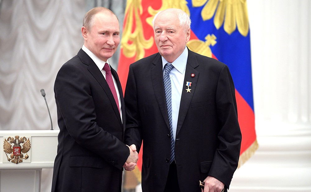 Владимир Путин и Марк Захаров