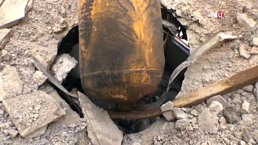 Место инсценировки химатаки в Сирии