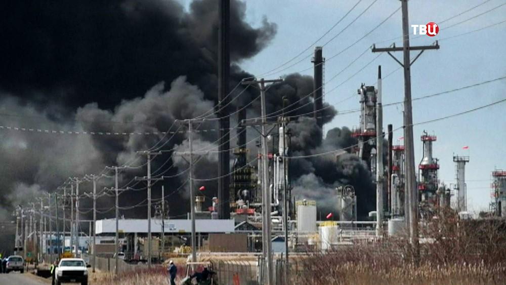 Взрыв на заводе в США