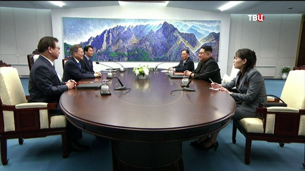 Встреча Мун Чжэ Ина и Ким Чен Ына