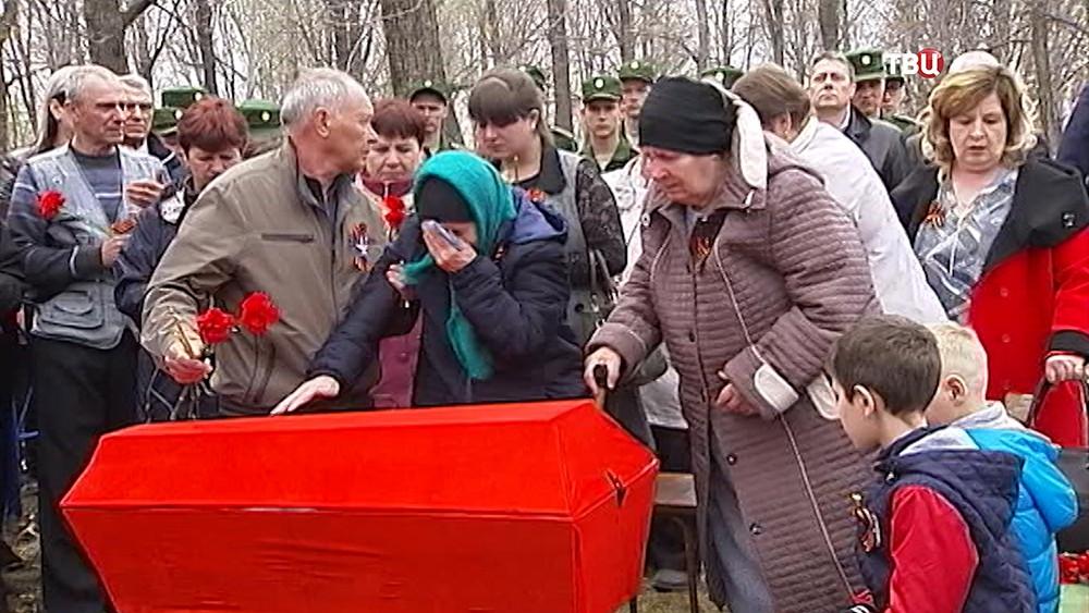 Прощание с красноармейцем Тимофеем Степановым