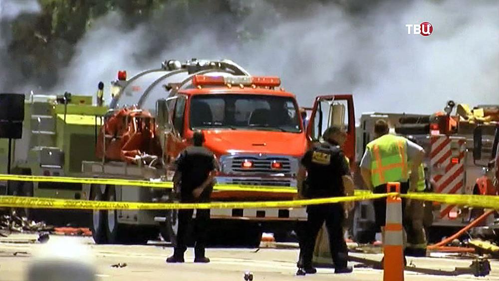 Пожарные США на месте происшествия