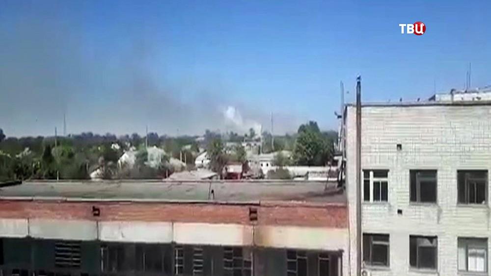 Взрыв на ружейном складе на Украине