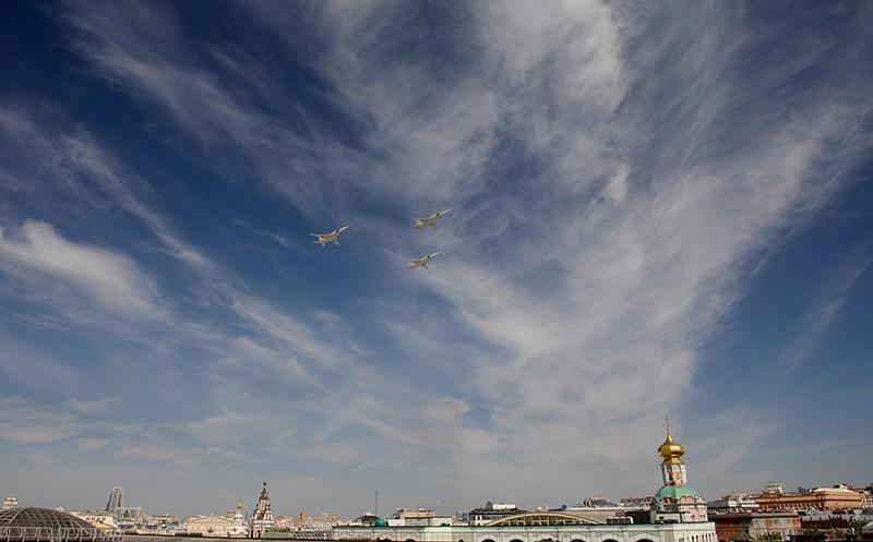 Воздушная часть Парада Победы. Бомбардировщики Ту-22М3