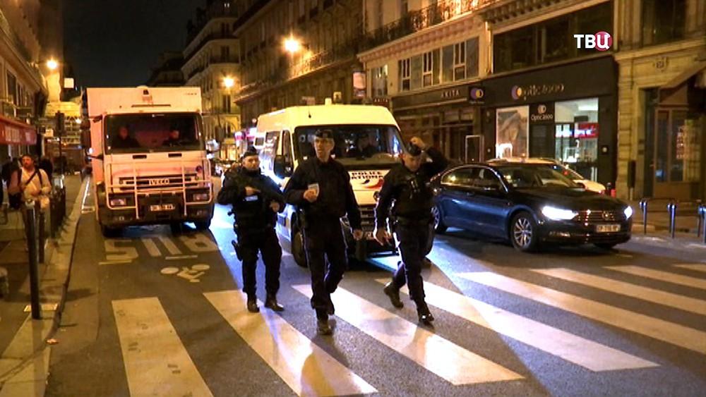 Полиция Франции на месте происшествия