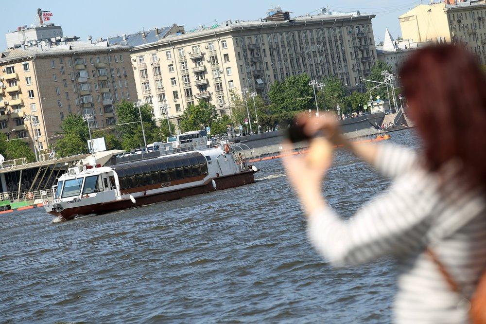 "Парад судов на Москве-реке во время праздника ""Навигация"""