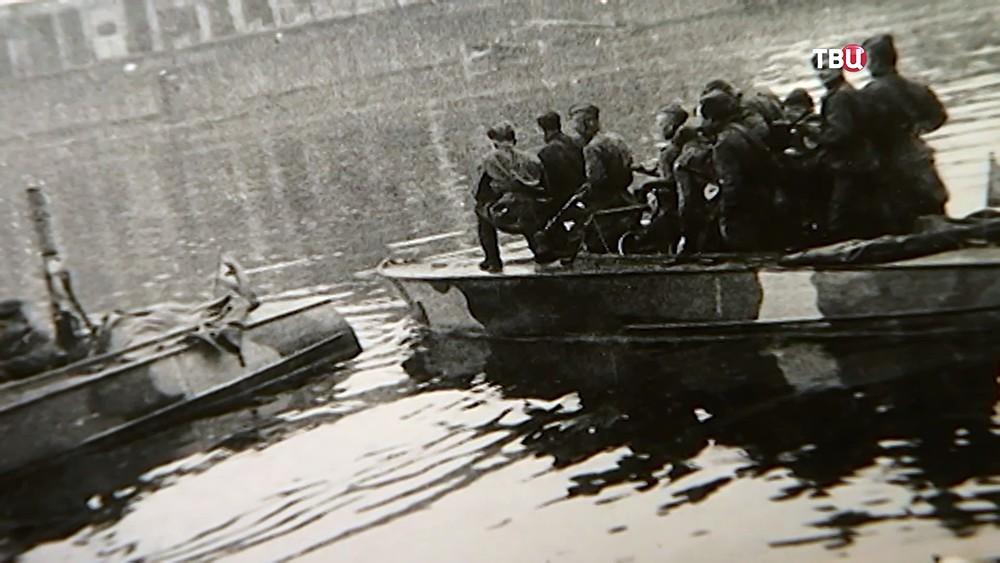 Архивные кадры: Днепровская флотилия во время ВОВ