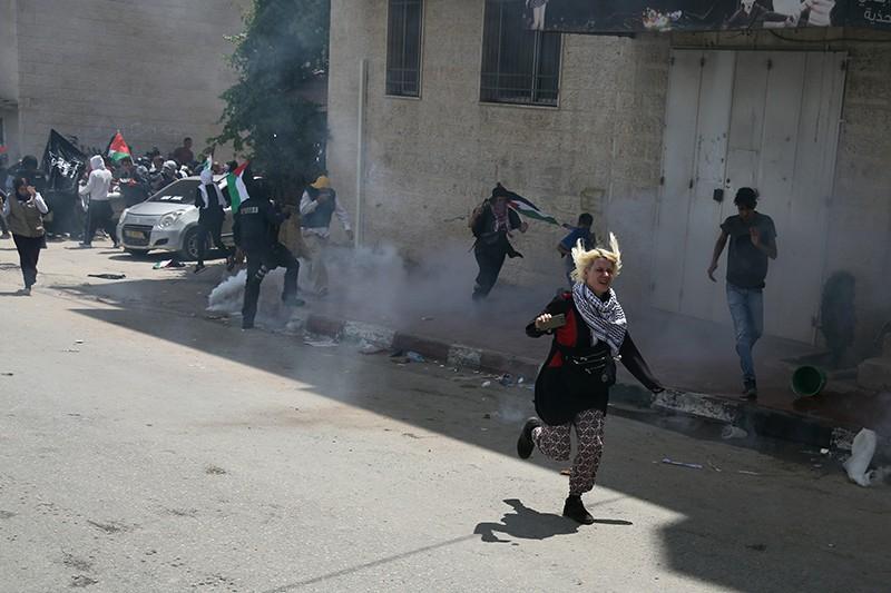 Уличные протесты в Палестине против переноса посольства США из Тель-Авива в Иерусалим