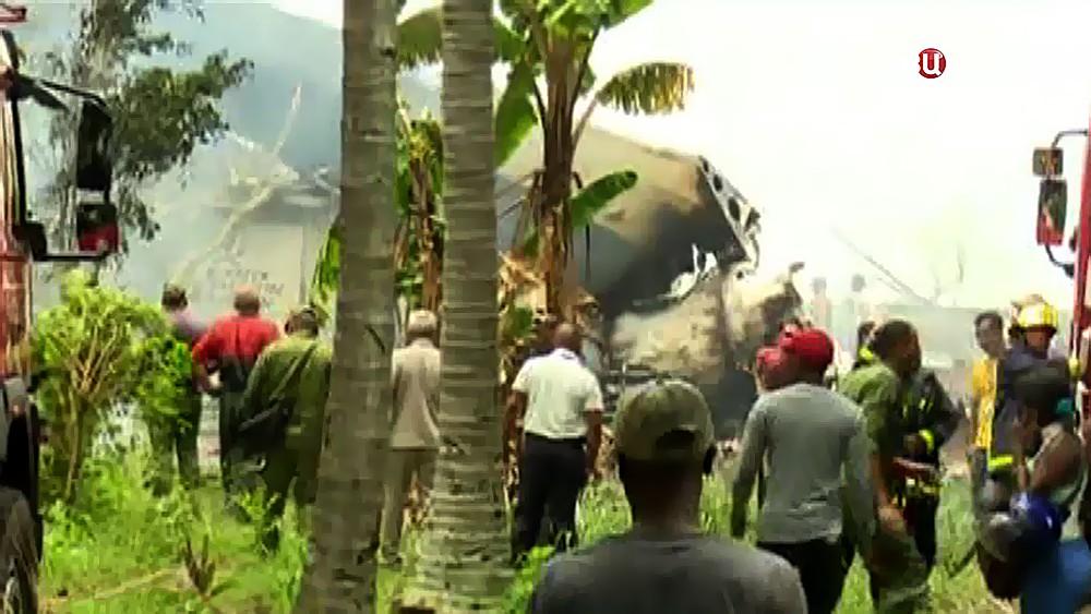 Последствия падения самолета на Кубе