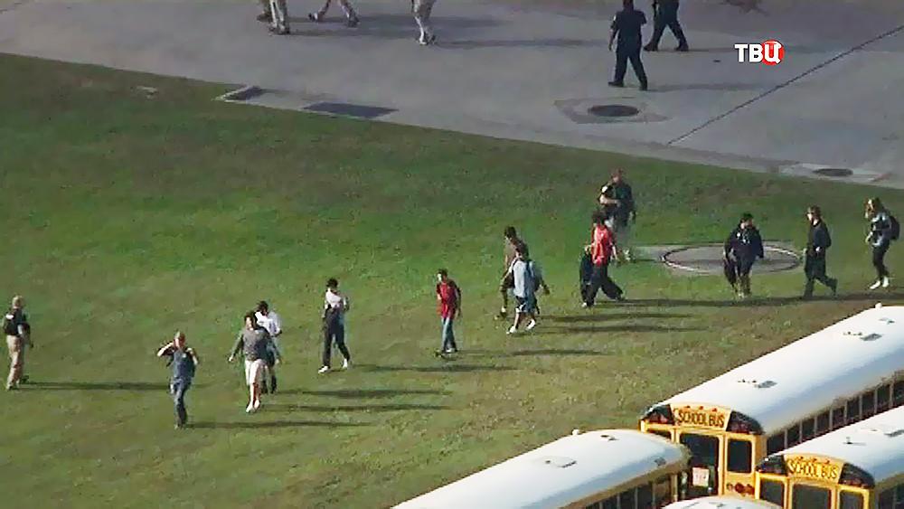 Эвакуация в школе в США