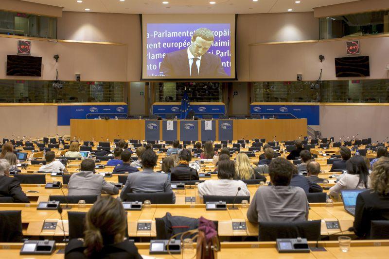 Выступление основателя соцсети Facebook Марка Цукерберга на слушаниях в Европарламенте