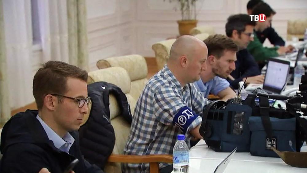 Иностранные журналисты в КНДР