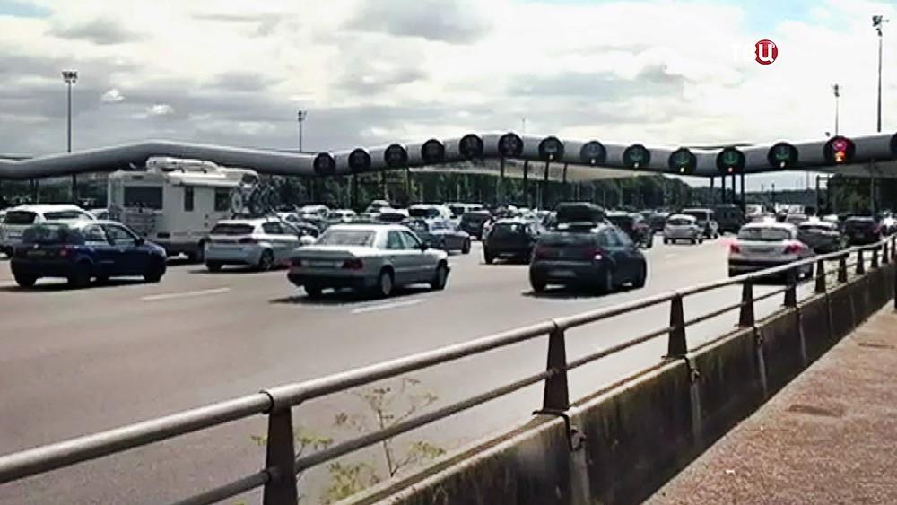 Пробки на трассах в Европе