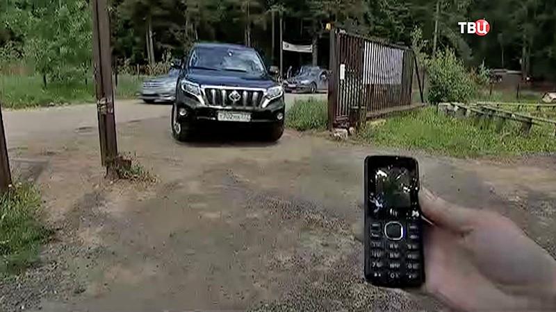 Дачные ворота с мобильной услугой