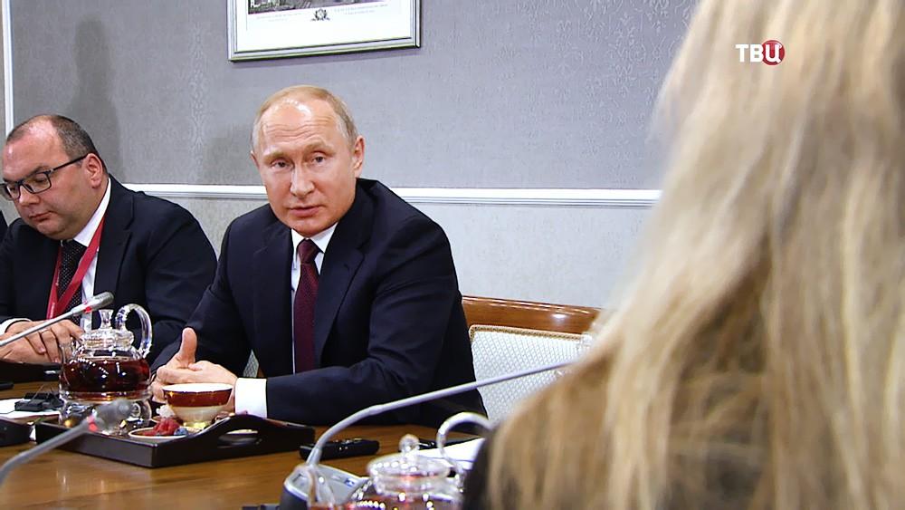 Владимир Путин и руководители ведущих мировых информационных агентств