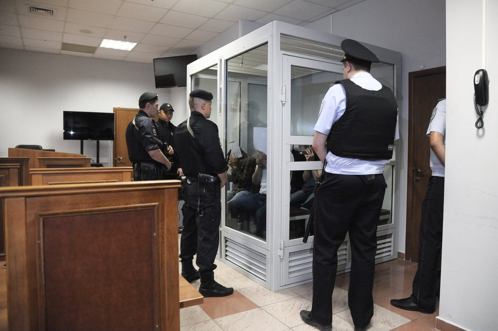 "Заседание Мособлсуда по делу ""банды ГТА"""