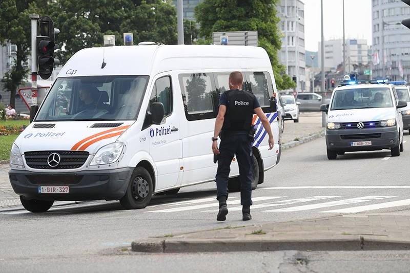 Полиция Бельгии на месте происшествия