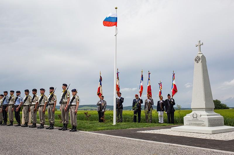 Открытие обелиска воинам Русского экспедиционного корпуса во Франции