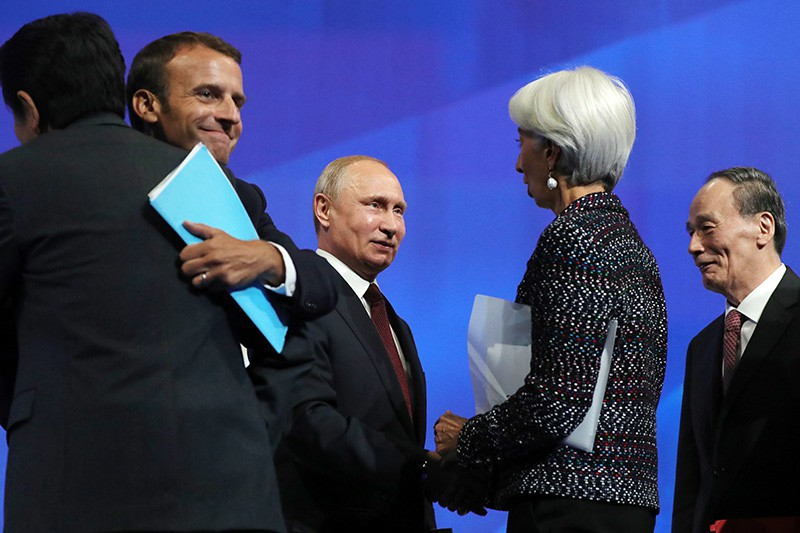 Владимир Путин на Международном экономическом форуме в Санкт-Петербурге