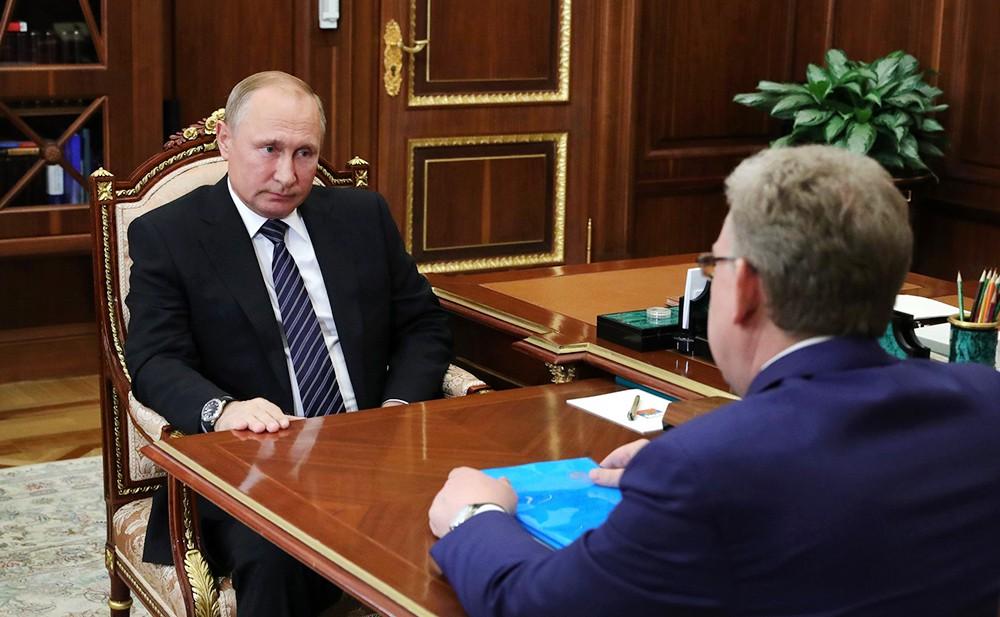 Президент России Владимир Путин и председатель Счетной палаты Алексей Кудрин