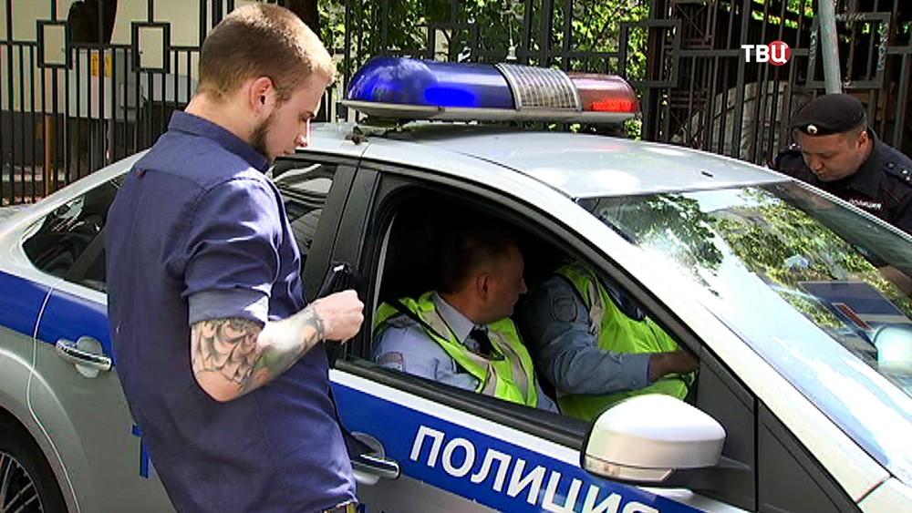 Полиция проверяет водительские права