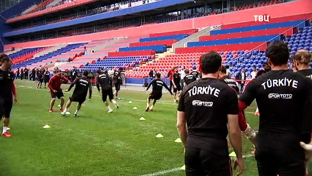 Предыгровая тренировка сборной Турции по футболу